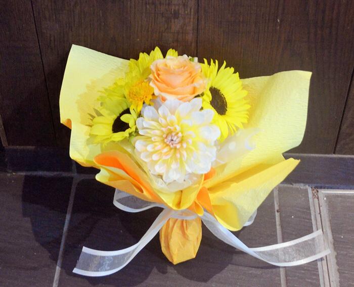 ひまわりミニ花束