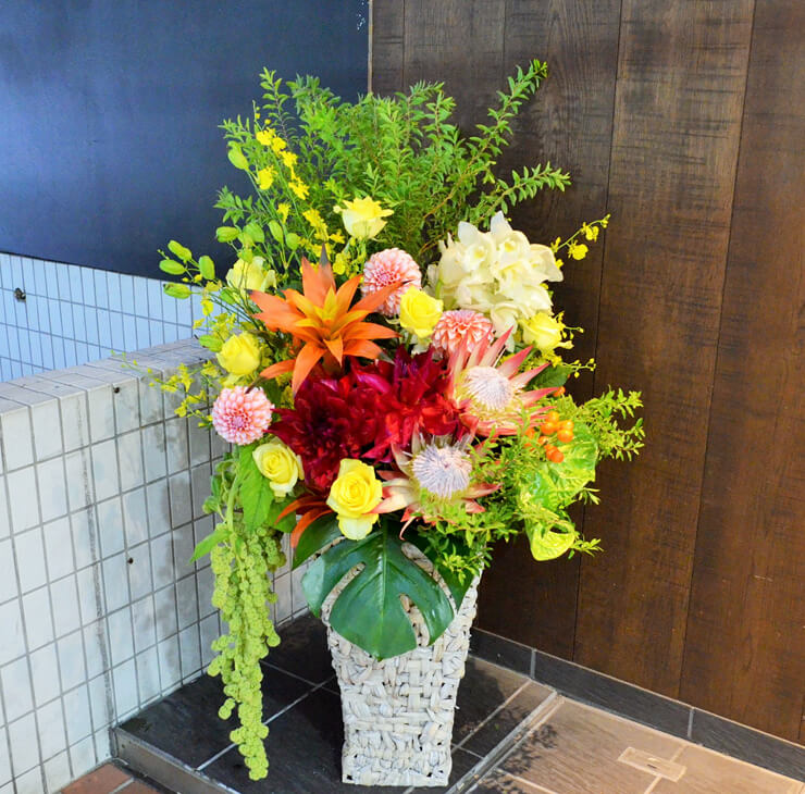 新社屋完成祝い花