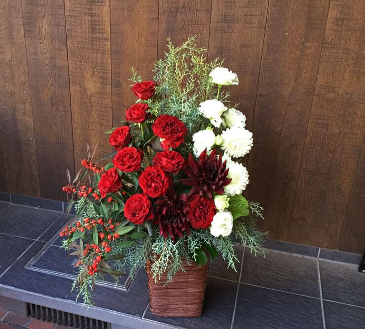 自社ビル開設祝い花
