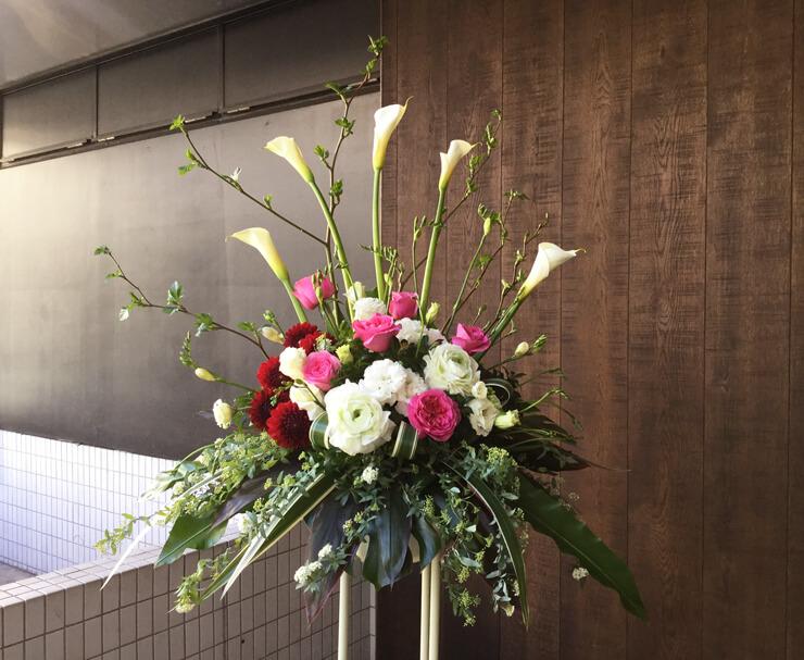 個展祝いスタンド花