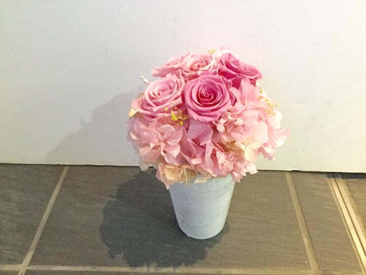 埼玉県加須市 金婚式祝いに贈られたプリザーブドフラワー