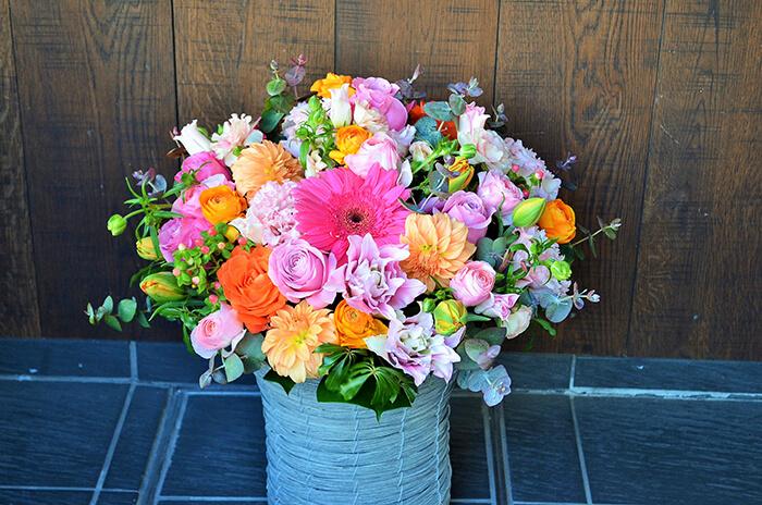 創業祝い生花アレンジメント