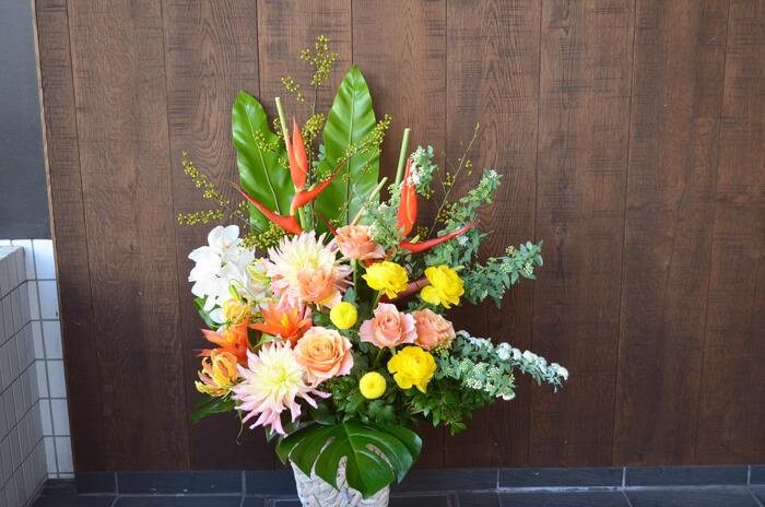 開店祝い花アレンジメント