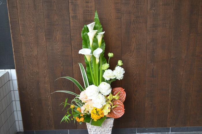 周年祝い花アレンジメント