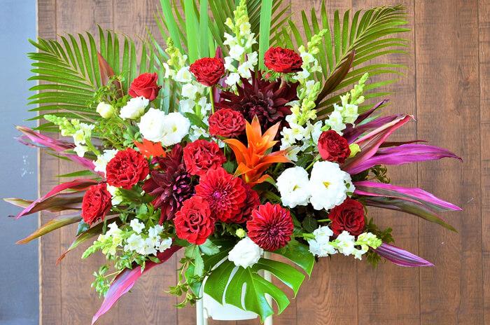 誕生祝いスタンド花