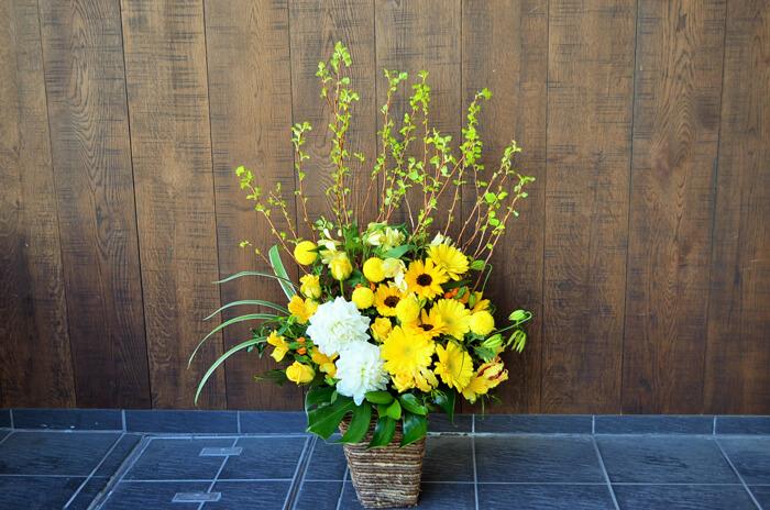 公演祝い花アレンジメント