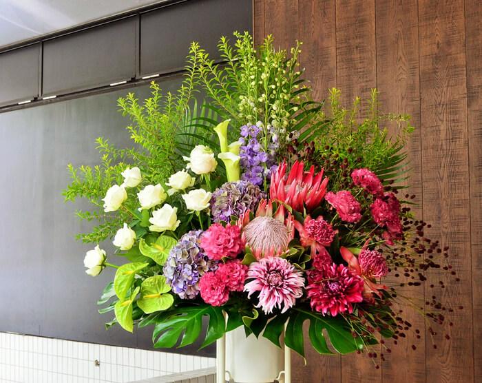 30周年祝いスタンド花