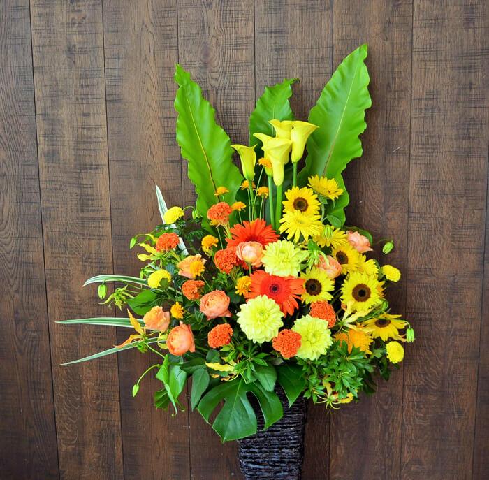 設立祝い花