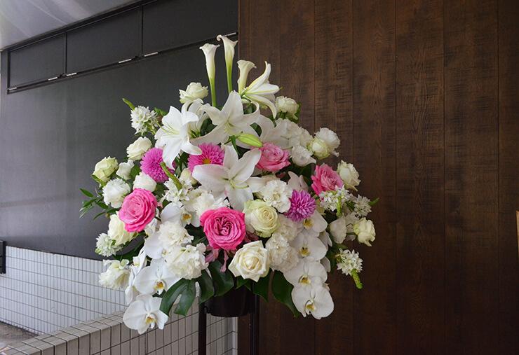 2周年祝いスタンド花