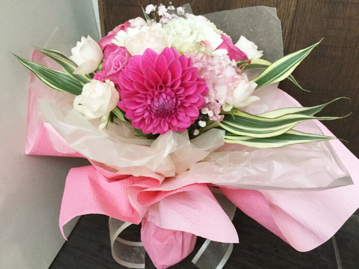 出産退職祝い花束