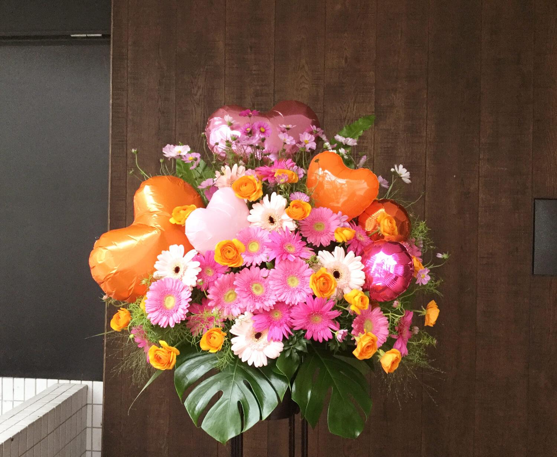 イベントバルーンスタンド花