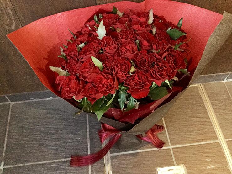 還暦祝い赤バラ花束60本