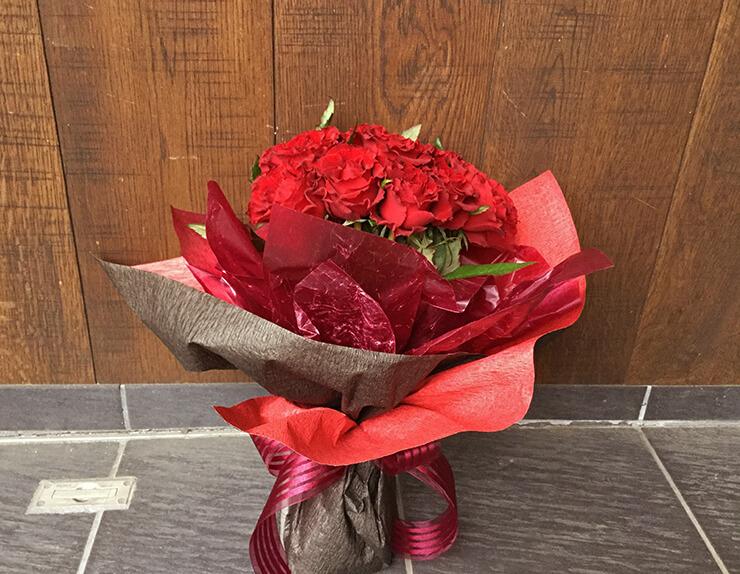 プロポーズ赤バラ花束15本