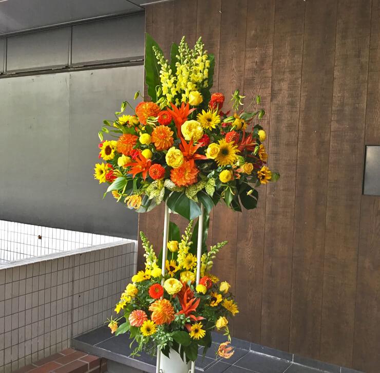 銀座開店祝いスタンド花
