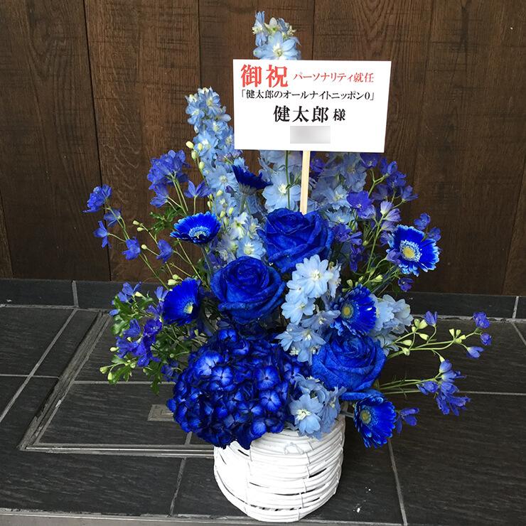 公演祝い楽屋花