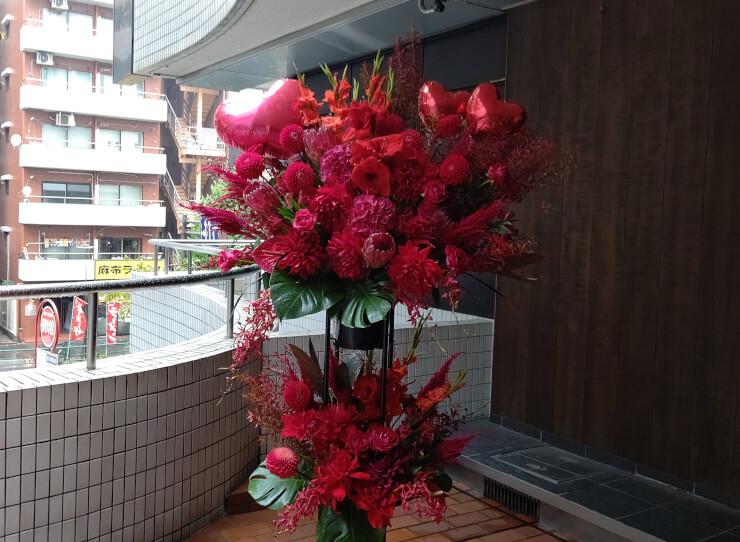 豊洲Pit オナニーマシーン様のライブ公演祝いにお届けした二段スタンド花