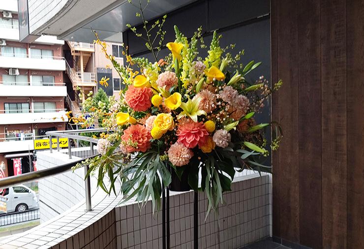 南青山 MANDALA 飯田俊明様のライブ公演祝いにお届けしたスタンド花