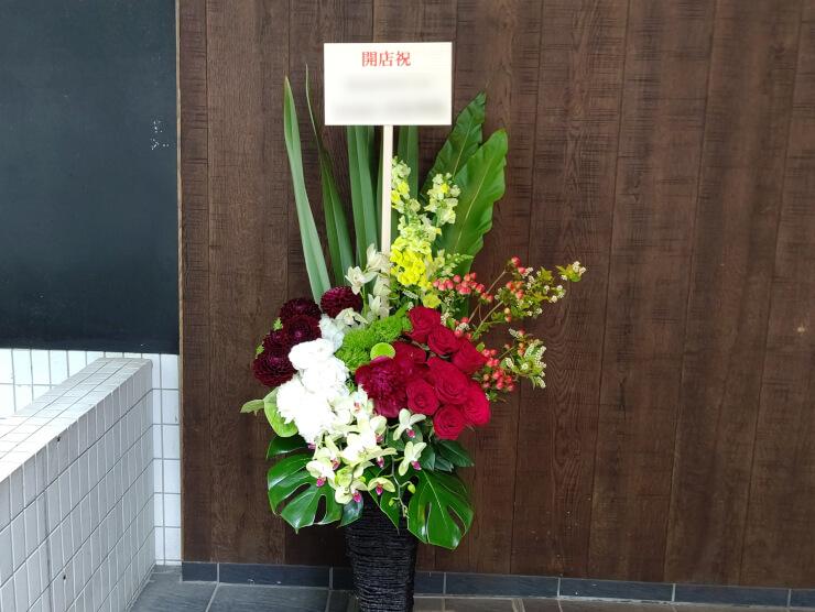 ウブロブティック銀座様の開店祝いにお届けした籠スタンド花