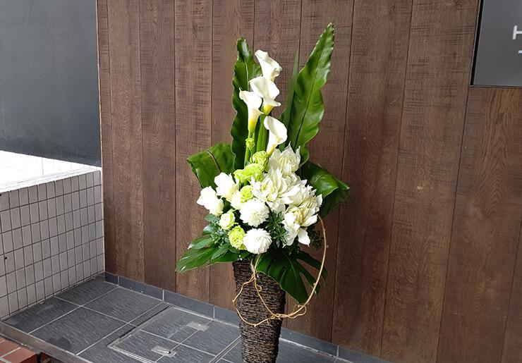 渋谷区神南 KIRINZIInc.様のお祝いにお届けした籠スタンド花