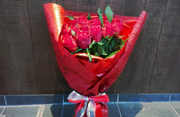 西麻布 レフェルヴェソンス様へお誕生日祝いとしてお届けした花束