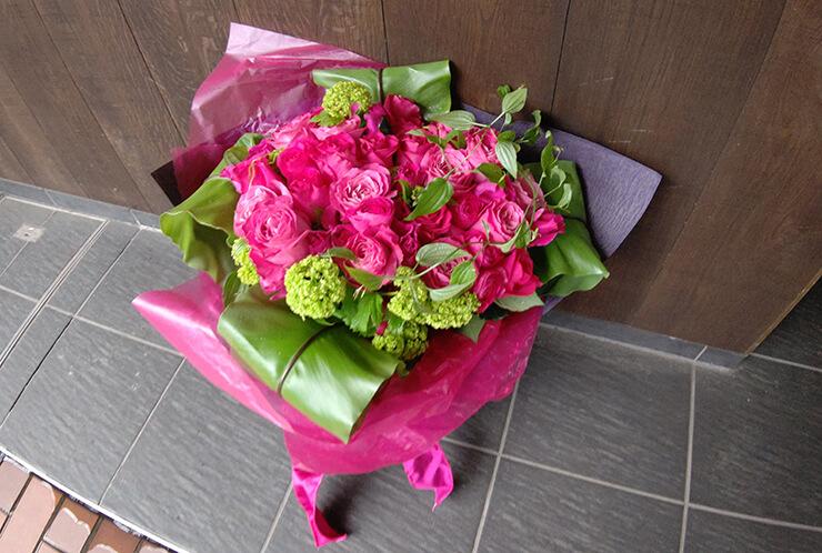 麻布十番 誕生日祝いにお届けした花束