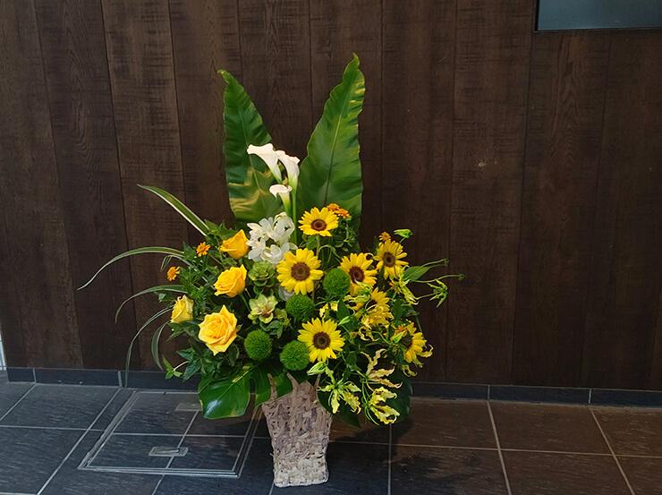東麻布 シンメトリー麻布十番様の開店祝いにお届けした花