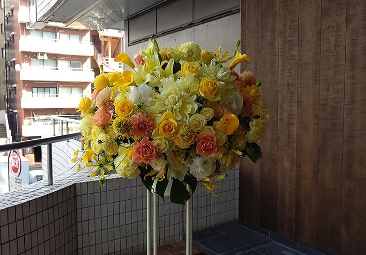 テレビ朝日 金剛いろは様の超人女子戦士ガリベンガーV出演祝いにお届けしたスタンド花