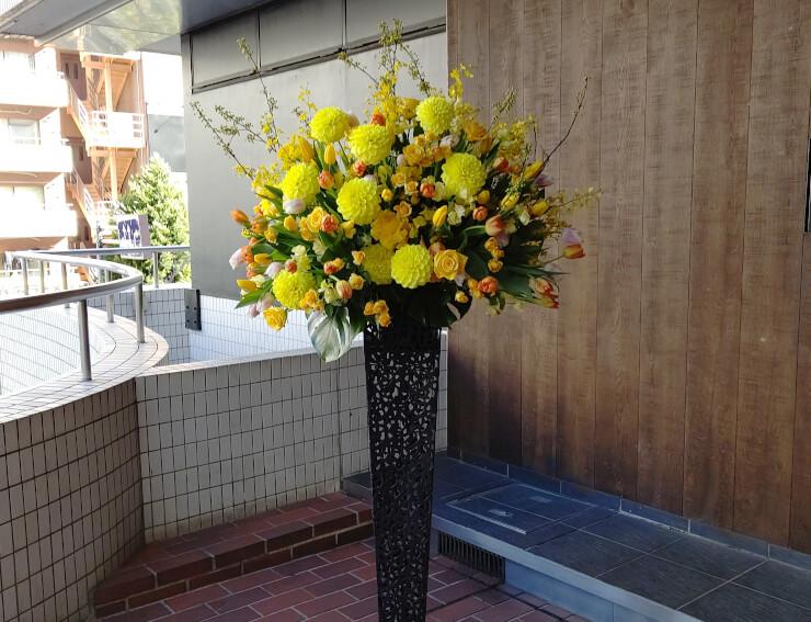 山野ホール 藤田ニコル様の生誕祭イベントにお届けしたスタンド花