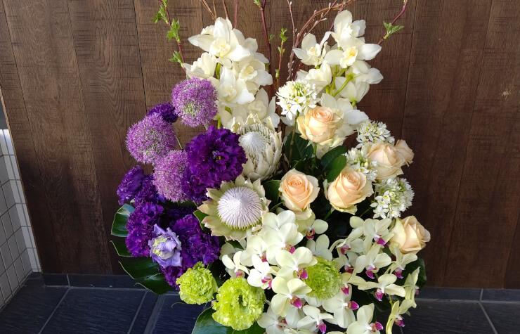 国立劇場 桂文珍様の公演祝いにお届けした花