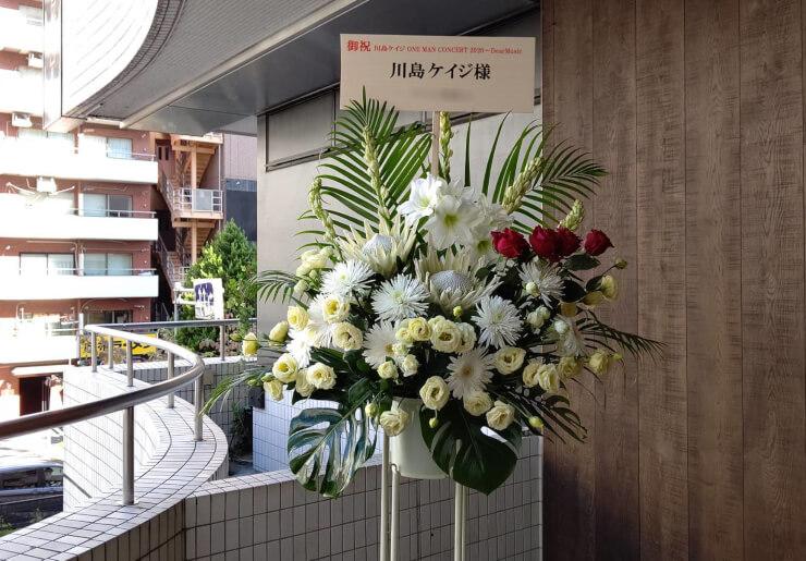 大手町三井ホール 川島ケイジ様のコンサート公演祝いにお届けしたスタンド花