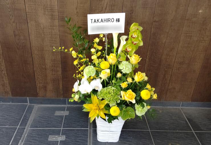 TAKAHIRO様のイベント会場へお届けした楽屋花