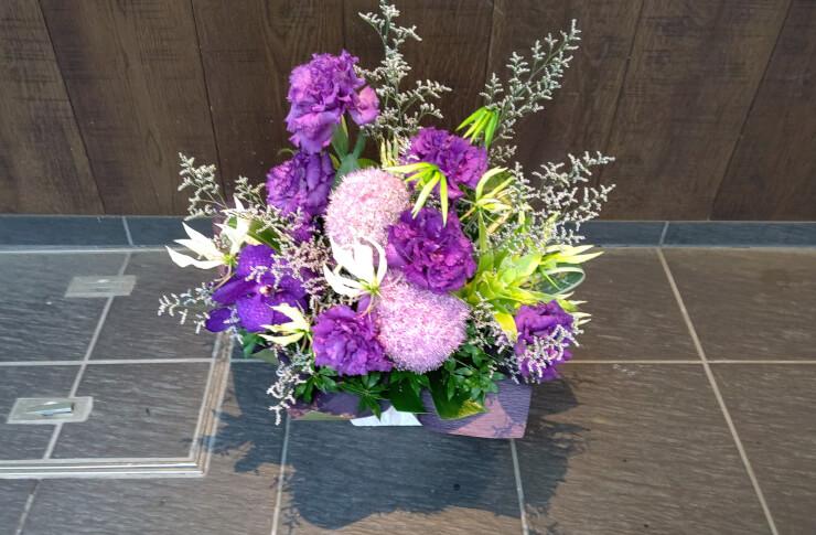 恵比寿西 古稀祝いにお届けした花