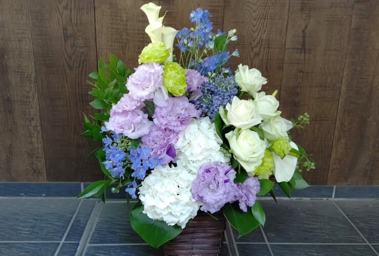 小平市 お見舞いに贈られた花