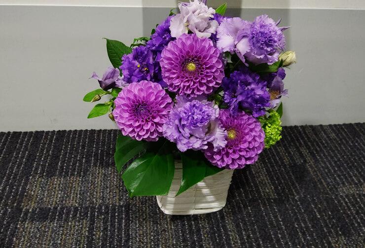 文化放送 吉田有里様のラジオ番組最終回祝いにお届けした花