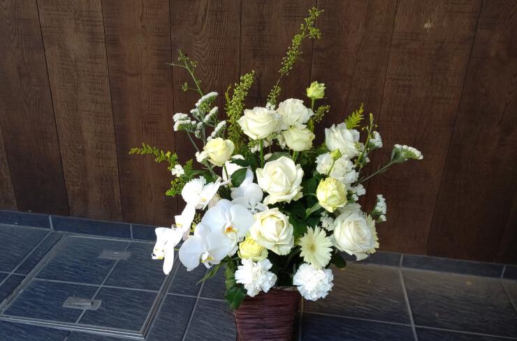 明治座 上田甚大様の舞台出演祝いにお届けした花